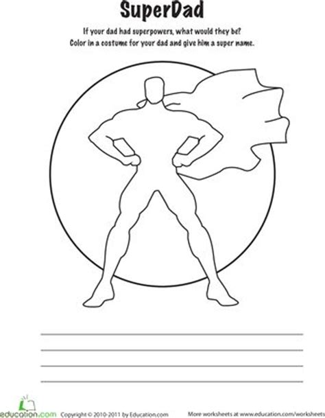 superhero dad coloring page worksheets super dad coloring page maybe next year we