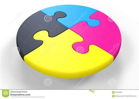 cmyk puzzle cmyk puzzle stock illustration image 64094851