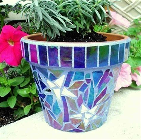 Flower Pot Handmade Mosaics Terra Cotta From - 1000 images about mosaic planters on