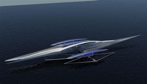 hydrofoil yacht design fresnel hydrofoil trimaran yacht charter superyacht news