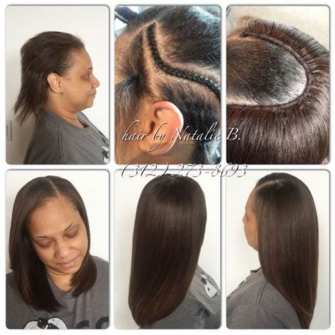 looking for sew in weave hairdressers for black women in or near jackson ms check out how flat my sew ins are in the above right photo