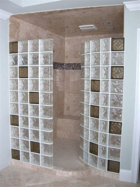 glass block bathroom shower ideas colored glass blocks for showers masonry glass systems can