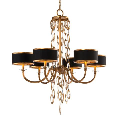 kronleuchter schwarz gold keyes regency black gold waterfall chandelier 6