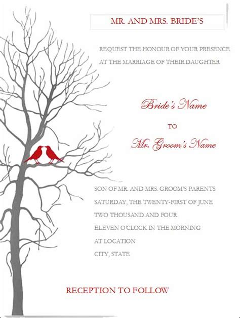 Invitations Templates Word by Free Printable Wedding Invitation Templates For Word