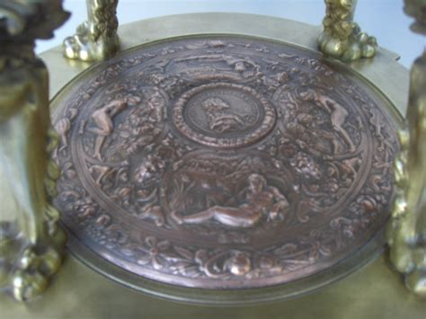 antique bronze table l l 19th c gilt bronze guerideon circular table for sale