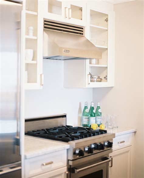 small white kitchen with steel hood kitchen vent hood photos 16 of 187 lonny