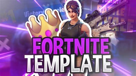 Free Fortnite Thumbnail Template Battle Royale Doovi Fortnite Template