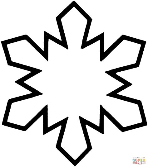 simple snowflake coloring page free printable coloring pages