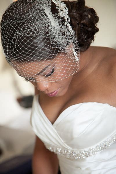 Wedding Hairstyles With Birdcage Veil by American Braided Hairstyles Black