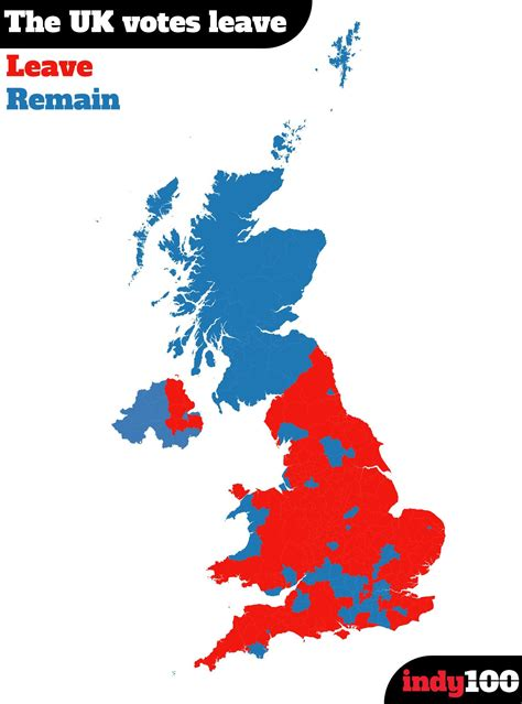 map uk remain leave the uk s 10 most pro remain cities that now need their own