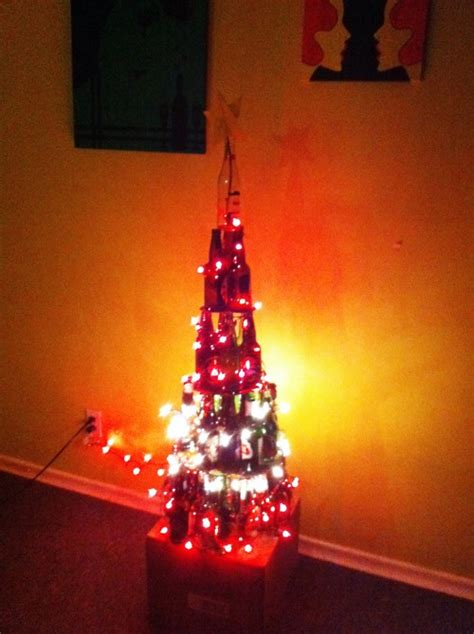 christmas tree made out of beer bottles crafts pinterest