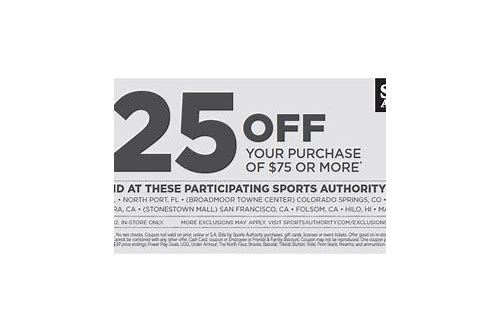 sports authority 25 coupons august 2018