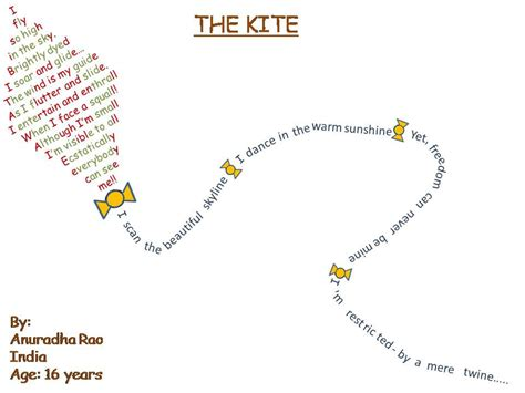 the kite a true shape poem by anuradha