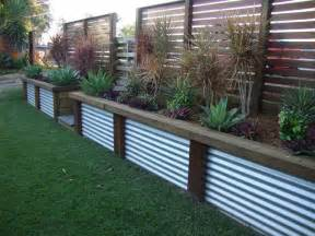 retaining wall ideas retaining wall ideas garden pinterest decks corrugated metal and lattices