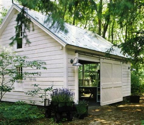 warehouse shade spices up charming potting shed