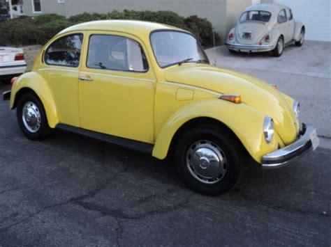 vw bug beetle yellow standard bug manual transmission nice