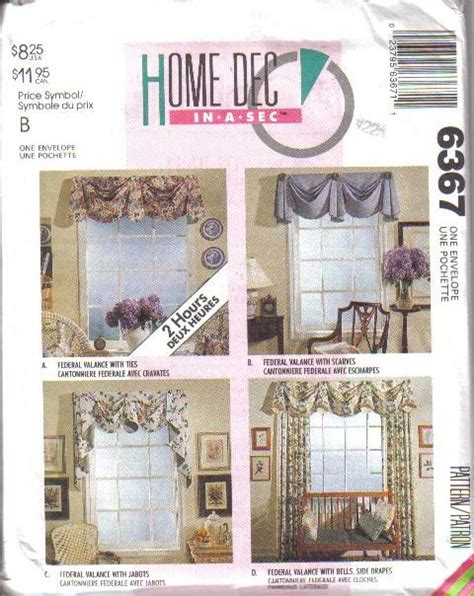 mccalls home decorating sewing pattern 3896 ebay oop mccall s sewing pattern home d 233 cor window treatment