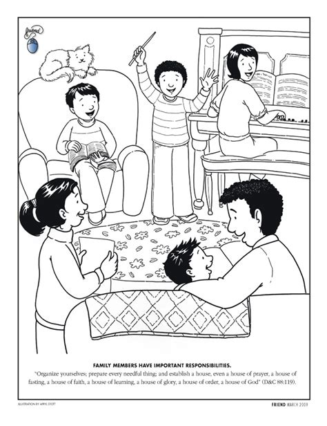 lds coloring pages family prayer lds family home evening coloring pages coloring page