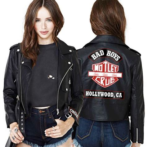 Moutley Jacket womens cropped leather jacket motley crue store