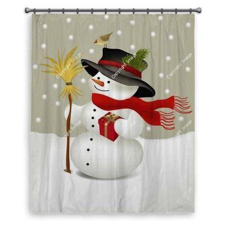 snowman curtains snowman large shower curtain at http www visionbedding