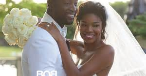 Gabrielle union s wedding dress her bridal portrait with dwyane wade