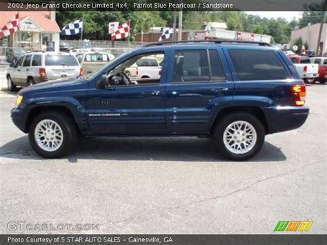 navy blue jeep grand cherokee patriot blue pearlcoat 2002 jeep grand cherokee limited