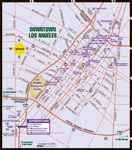 downtown los angeles la map pictures california map