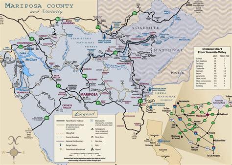 map of yosemite area location of yosemite lodging mesa verde lodging elsavadorla
