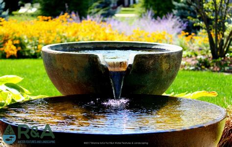 Water Bowl Decoration by Decorative Spotlight Spillway Bowls R A Water