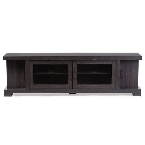 Baxton Studio Viveka 70 Inch Dark Brown Wood Tv Cabinet Entertainment Cabinet With Doors