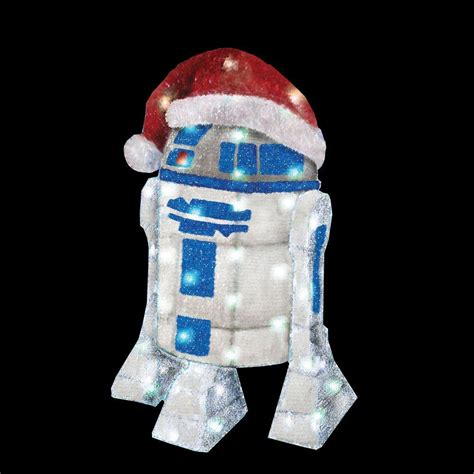 home depot star wars lights star wars r2d2 lighted lawn decor kurt s adler 28