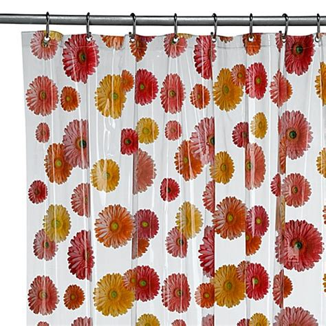 gerber daisy shower curtain interdesign 174 gerber daisy 72 inch x 72 inch vinyl shower