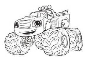 nick jr blaze truck coloring page coloring pages