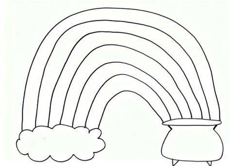 rainbow coloring page cutouts pom pom rainbow craft for st patrick s day free