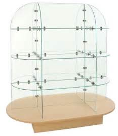 glass oval display unit glass display stand store