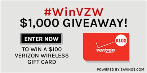 Vzw Gift Card - 1 000 verizon wireless gift card giveaway winvzw