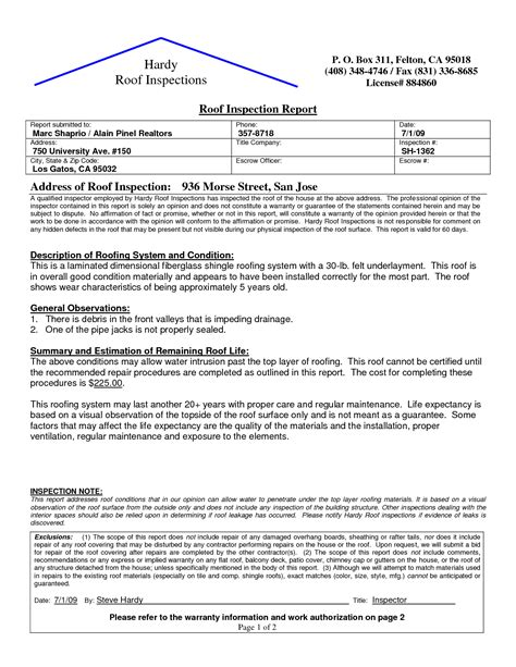 roof certification form template best photos of sle roof certification roof inspection
