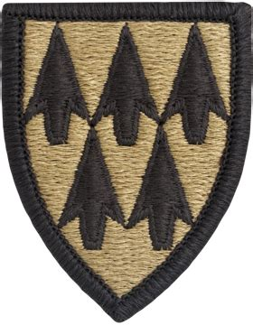 operational camouflage pattern unit patches ocp unit patch 32nd air defense artillery with fastener