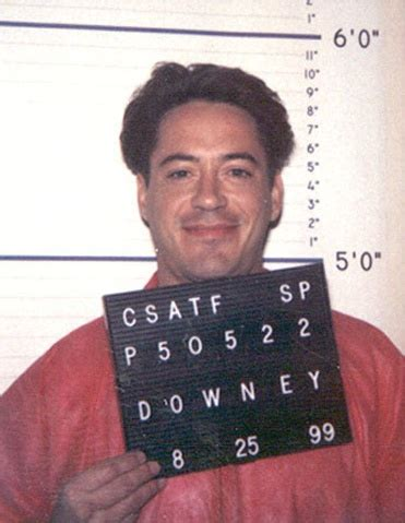 California Department Of Corrections Records File Actor Robert Downey Jr Photographed By The California Department Of Corrections