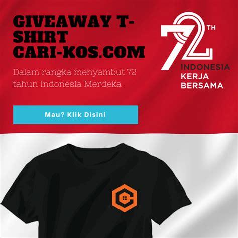 Kaos Hut Ri 72 Tshirt giveaway t shirt cari kos memperingati hut ri ke 72