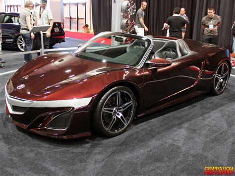 acura supercar avengers sema 2012 acura nsx roadster concept car genho