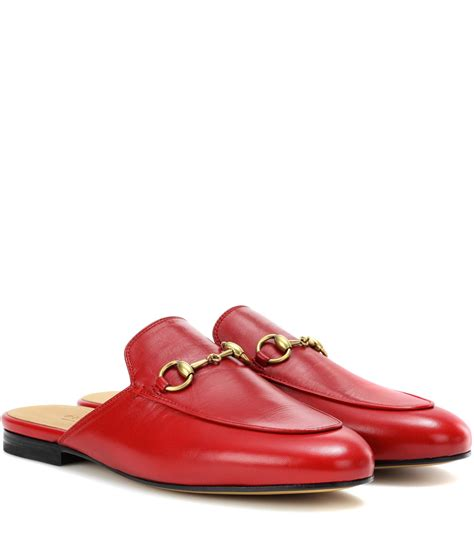 gucci slippers sale lyst gucci princetown leather slippers in