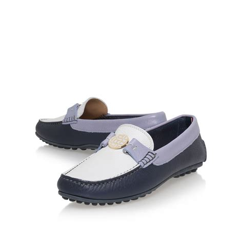 hilfiger loafers hilfiger kendall 12a slip on loafers in blue lyst