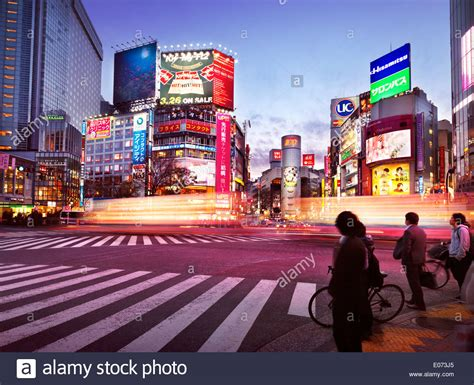 colorful city shibuya tokyo colorful city scenery of traffic crossing
