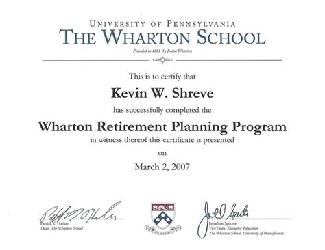 Wharton 1 Year Mba Program by About Us Kevin S Wharton Experience Financial Designs