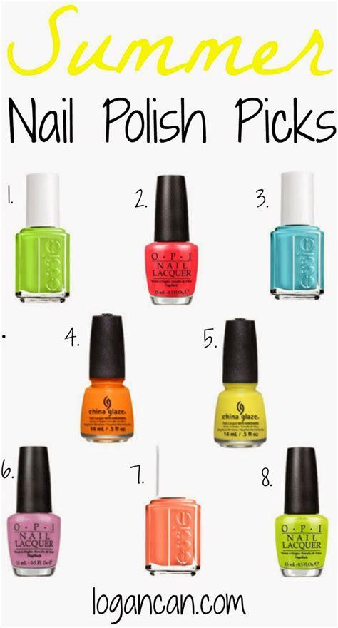 nail polish color for june 2014 summer nail polish picks logan can
