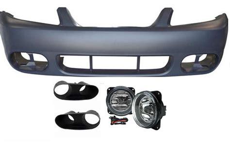 2003 04 mustang cobra fog light bezel kit 03 04 cobra style mustang front bumper with fog lights w