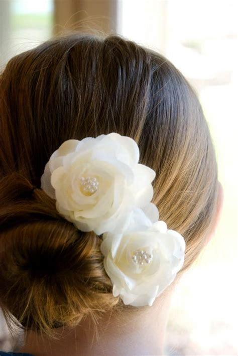 Vintage Wedding Hair With Flowers by Vintage Wedding Hair Flowers Bridal Hair Ivory