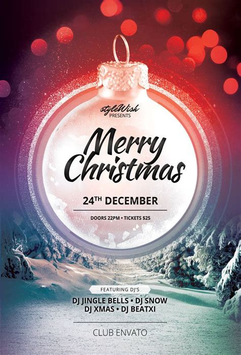 Merry Christmas Flyer Template Buy Psd Layout For 9 Afiches Poster Pinterest Christmas Merry Templates