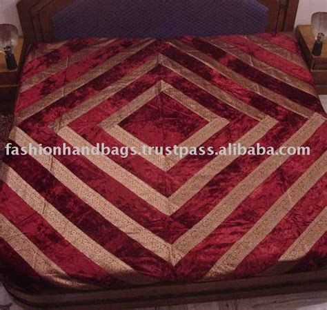 Handmade Bed Sheets - saree patchwork bed sheet cotton patchwork bed sheet